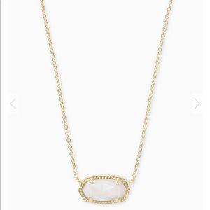 NWT Kendra Scott Elisa mother of pearl gold